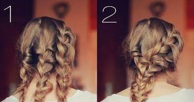 Fast everyday hairstyle