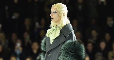 Lady GAGA on the runway at the Marc Jacobs Show!