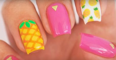 This cute pineapple nail tutorial is easier than you think!