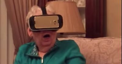 Grandma tries virtual reality for the first time and it's hilarious!