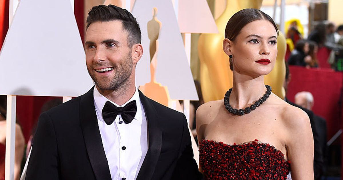Adam Levine just posted this topless photo of Behati Prinsloo