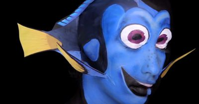Watch this woman transform into Dory from Finding Nemo