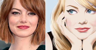 These pretty paintings of celebrities are perfect!