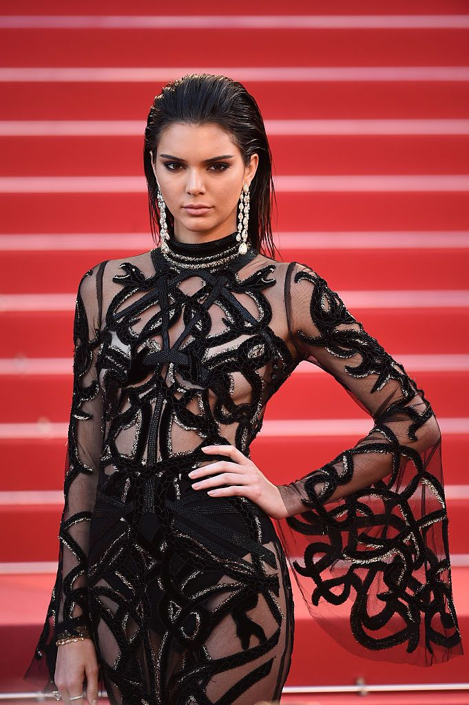 Kendall Jenner showed off her nipple ring in this see-through top
