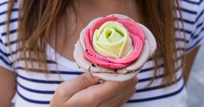 This rose-shaped gelato looks way too good to eat!