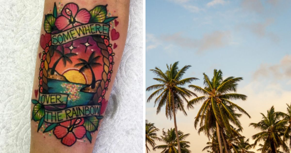 10 beach tattoos that will bring you sunshine all year round