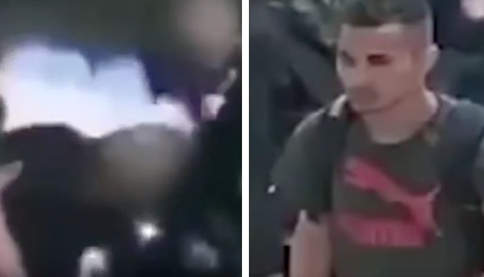 SHOCKING: Security camera catches man setting woman's hair on fire