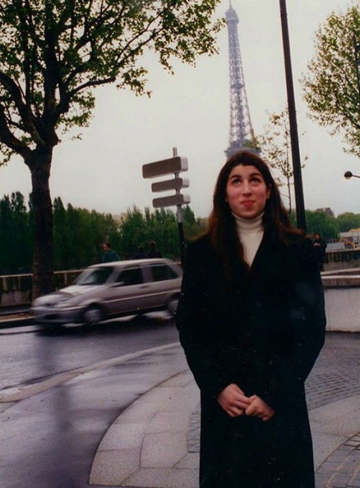 Amy Winehouse in Paris when she was a young woman.