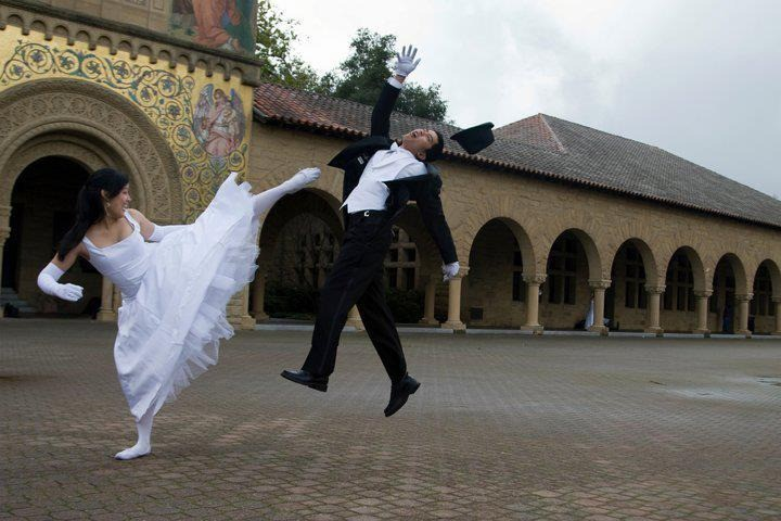 Kickboxing on a wedding photo, why not.