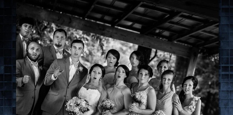 This is what speechless wedding guests look like.