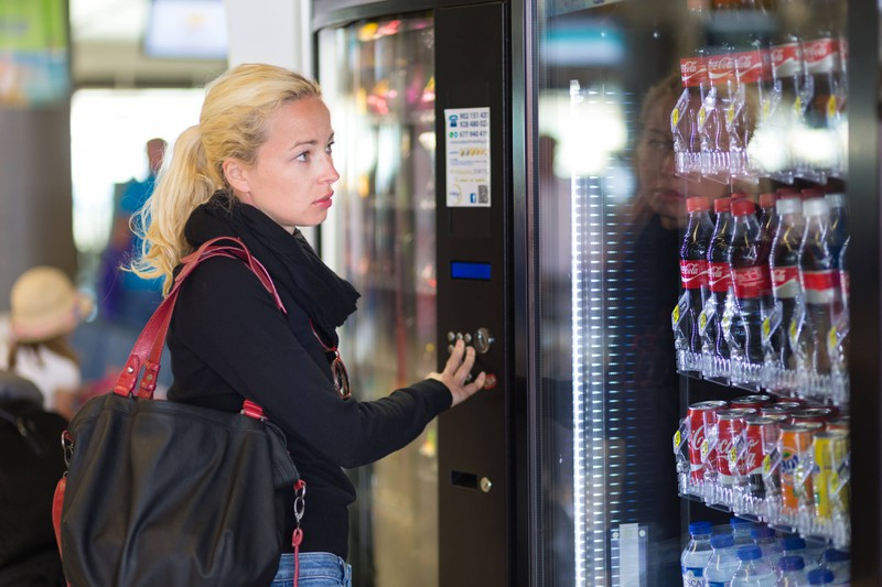 You're not allowed to hit vending machines in Kansas.