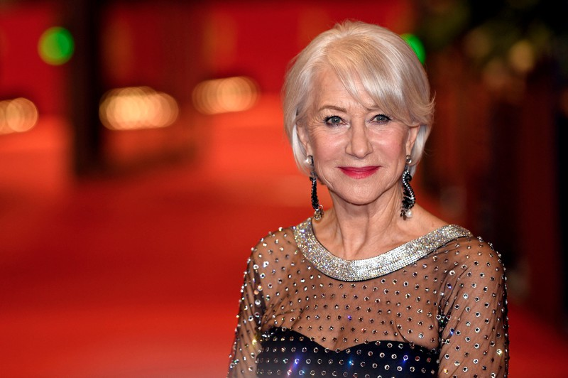 Helen Mirren is pictured in an elegant evening look, but she likes keeping it real on her Instagram.