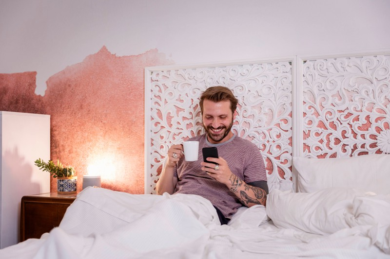 It's easier for men to be charming via text than in real life.