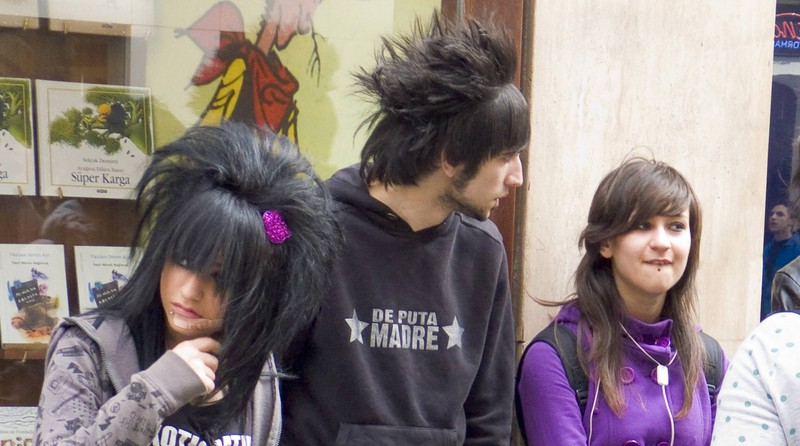 Emo hair was a huge trend in the 2000s.