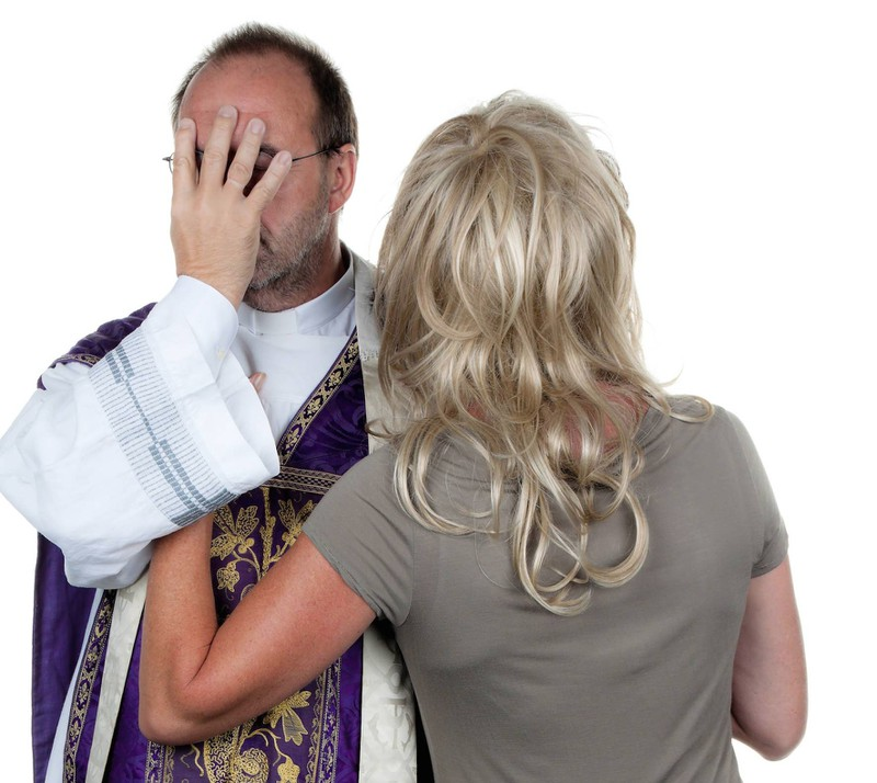 A woman is pressures a priest to solemnize her and her fiancé.