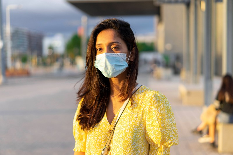 The skin must be allowed to breath every once in a while while wearing a mask.