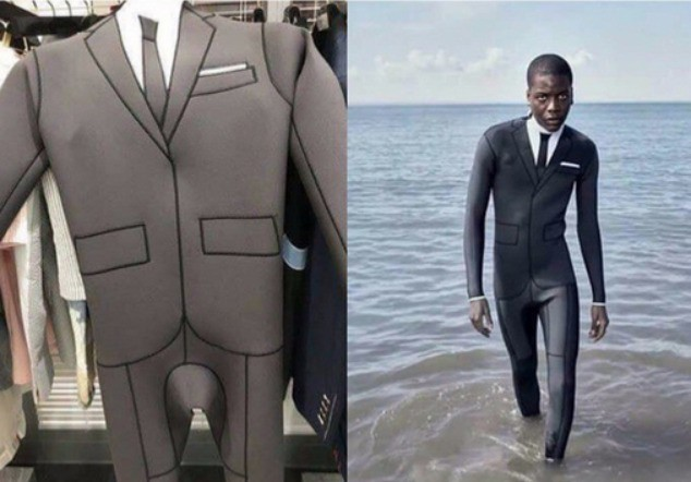 The picture of the diving suit makes you a bit uncomfortable.