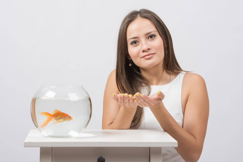 This woman uses her fish to get out of work.