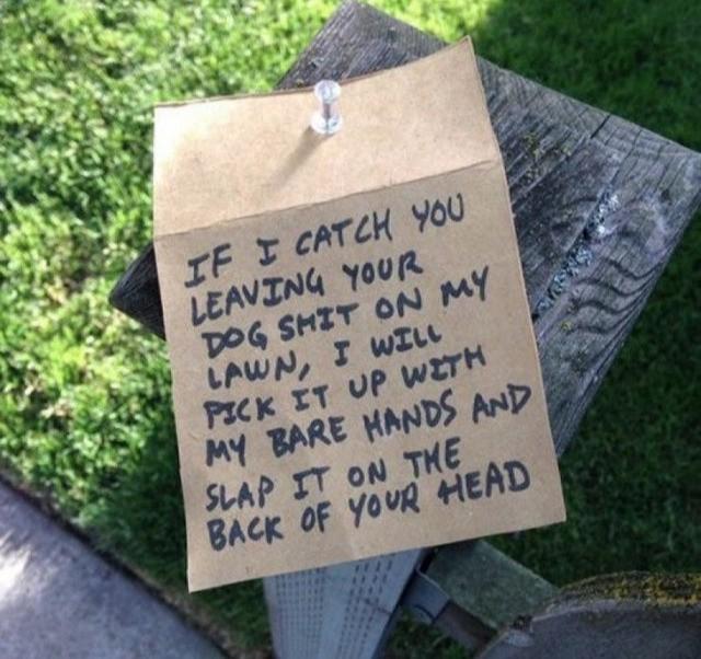 A very rude neighbour