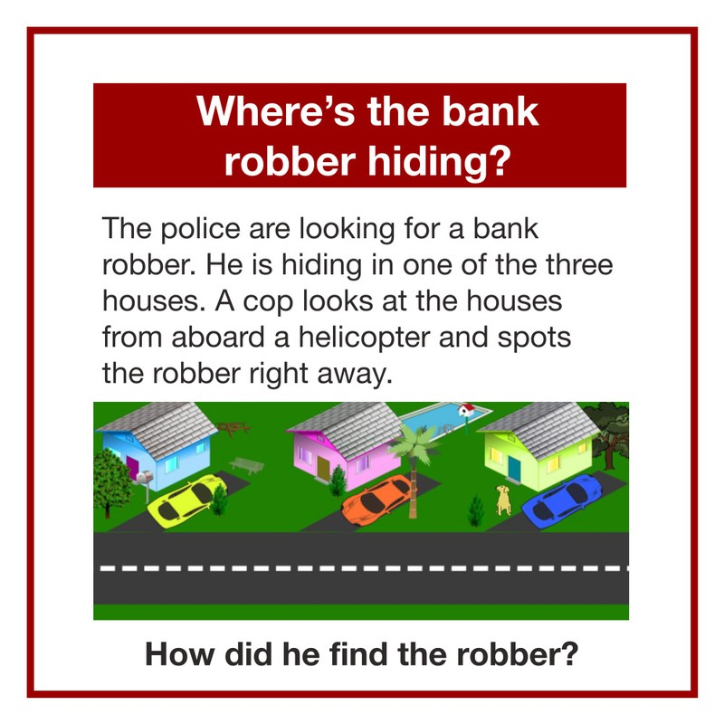 How did the police find the bank robber right away?