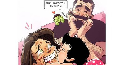 Comics Show Perfectly Adorable Moments of Life as First-Time Parents