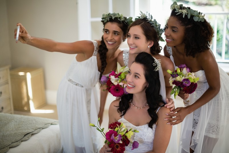 Influencers often don't take time off on their wedding day.