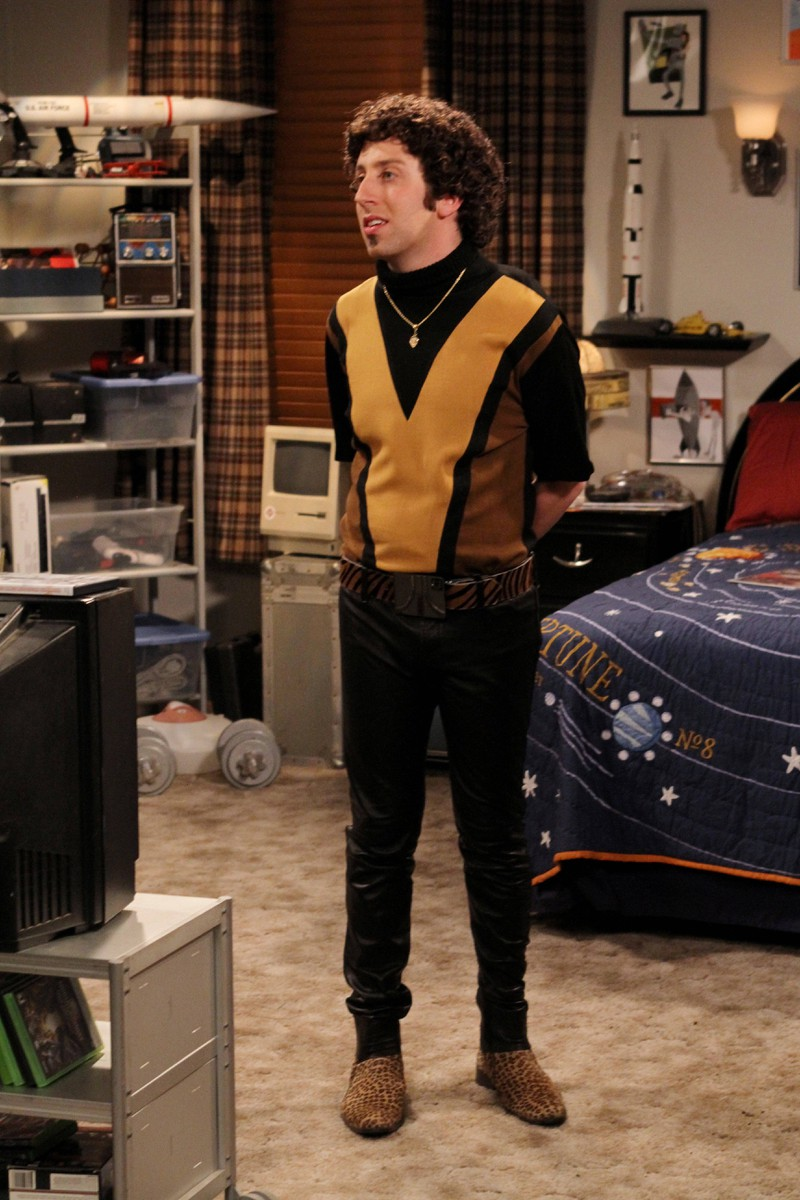 "Howard behaves like a macho in ""The Big Bang Theory""."