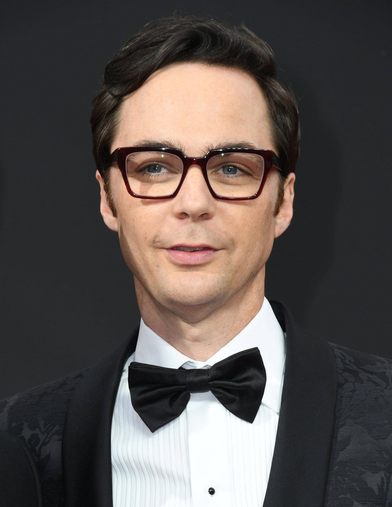 """Jim Parsons looks quite different in comparison to his time as """"Sheldon Cooper""""."""