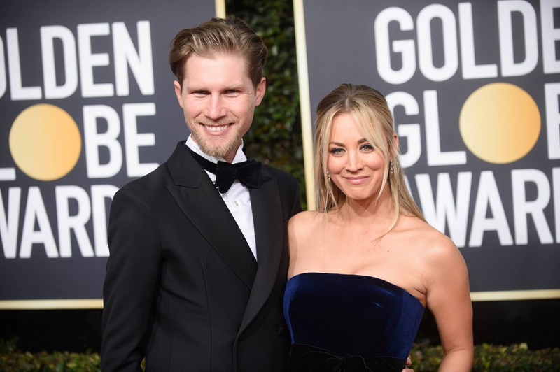 Kaley Cuoco is married to Karl Cook.
