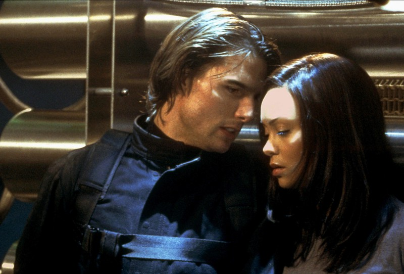"In ""Mission Impossible 2"" Tom Cruise did kiss Thandie Newton who did not like it at all."