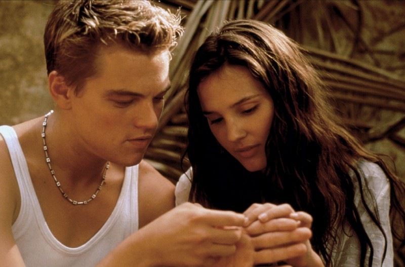 "in ""The Beach"" Leonardo DiCaprio could not convince Virginie Ledoyen with his kissing qualities."
