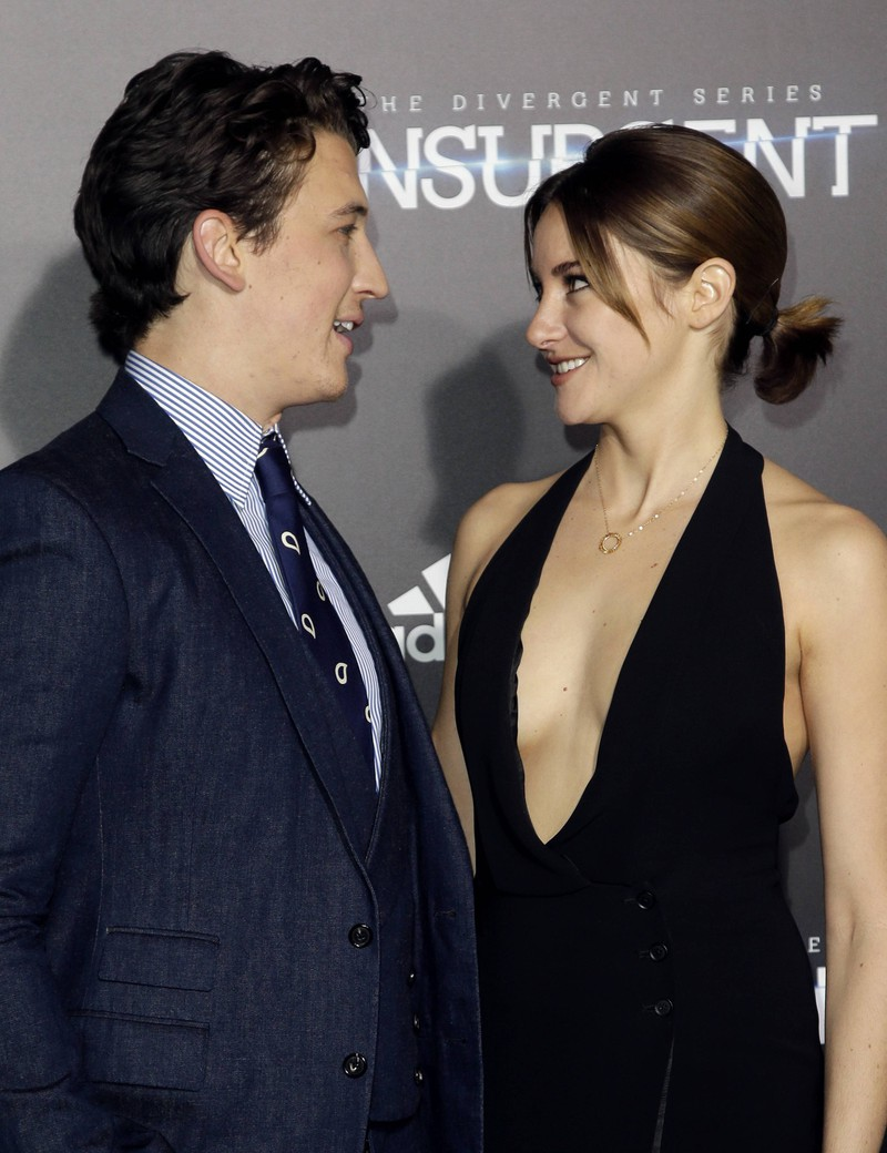 Shailene Woodley had a special ritual before kissing Miles Teller.