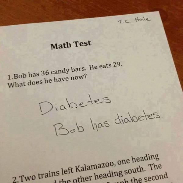 Even if this student didn't give the right answer, they're not stupid.