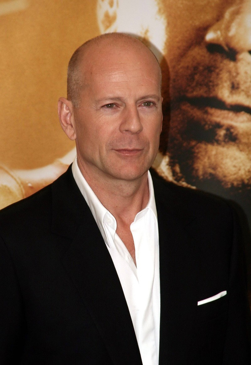 Bruce Willis and the general could be twins.