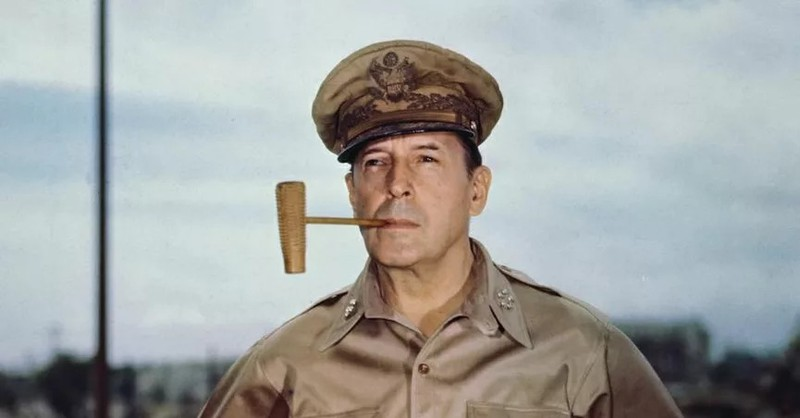 General MacArthur could be an american star in a costume!