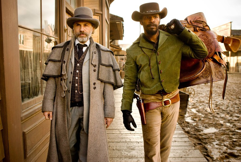 """In """"Django Unchained"""", Django wears a pair of sunglasses that belongs to the 20th century."""
