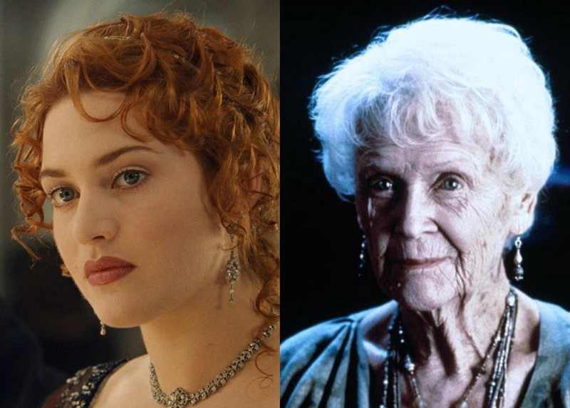 """The eyes of the two actresses who play Rose in """"Titanic"""" have a different color."""