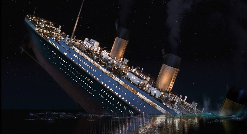 The film takes as long as the sinking of the Titanic took.