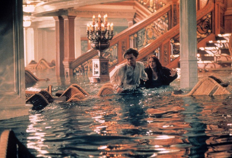 """The """"Titanic"""" actors were able to warm in whirlpools on set."""