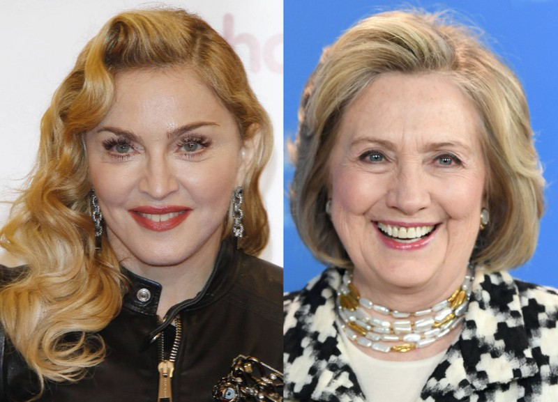 Madonna and Hillary Clinton are relatives, even if they're only distantly related to each other!