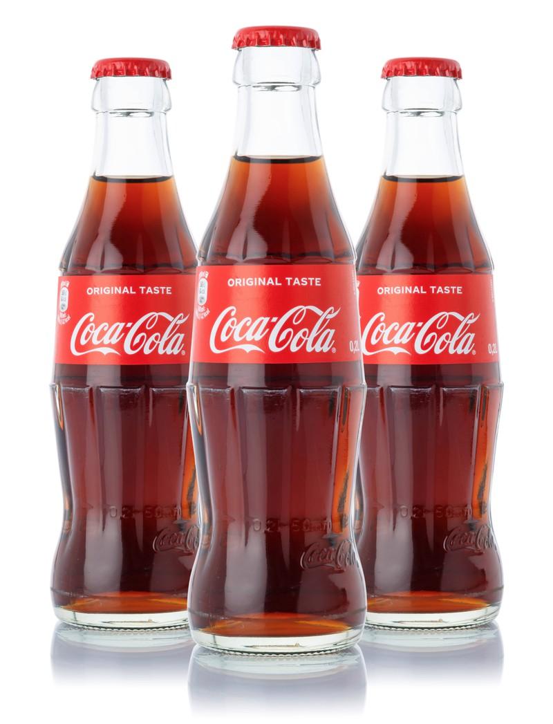 Many people still enjoy drinking the original Coca Cola.