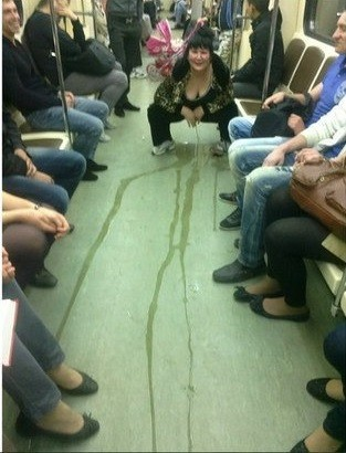 Another reason why we need public toilets on the train.