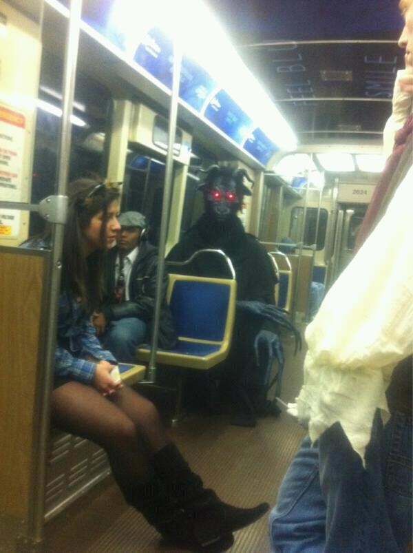 Sometimes you see mystical characters on the subway.