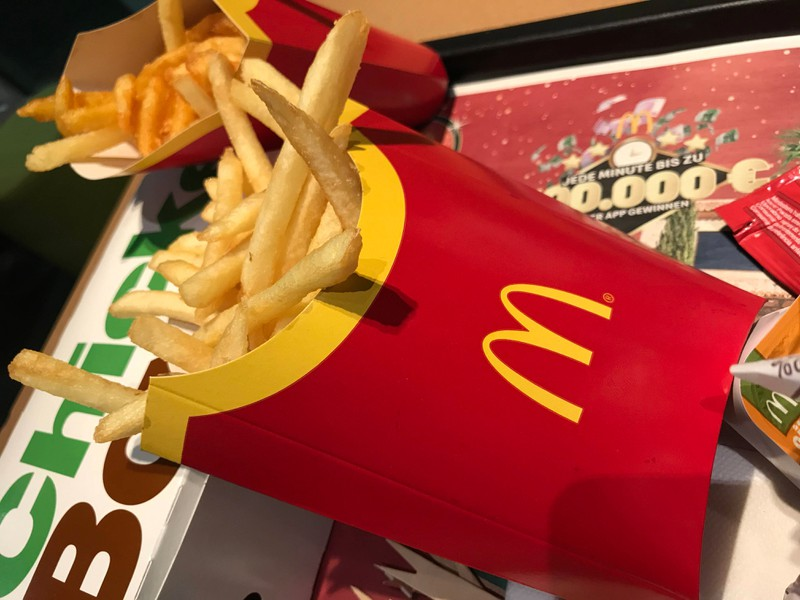 The packaging of fries at McDonald's has a little extra special feature.