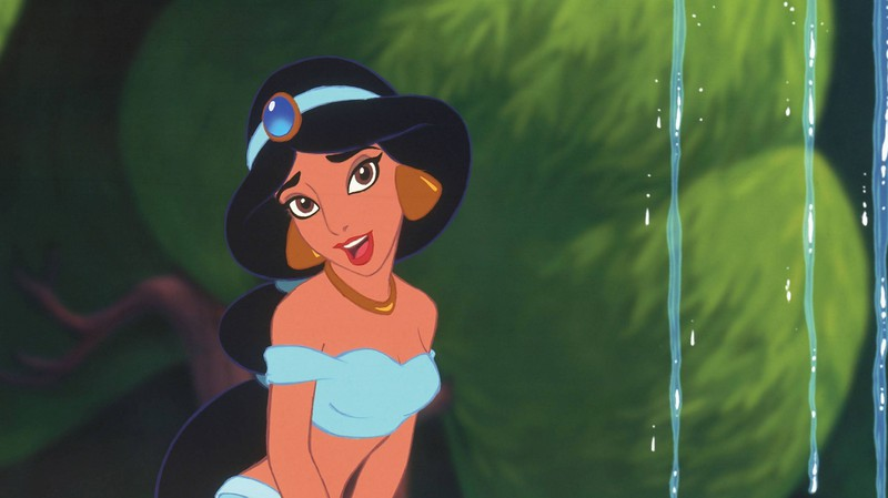 "Here's princess Jasmine in the original ""Aladdin"" movie."
