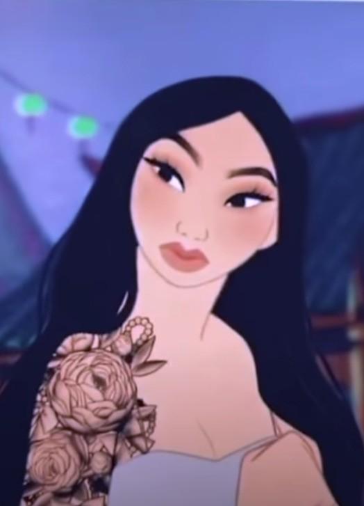 Modern Mulan has beautiful tattoos.