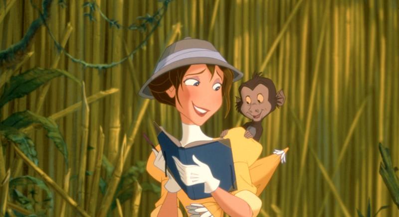 Tarzan's love interest Jane in the original movie.
