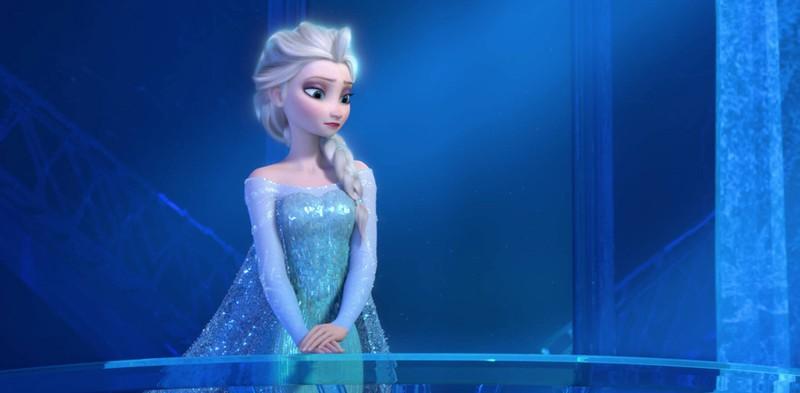 """This is Elsa's classical look in """"Frozen""""."""