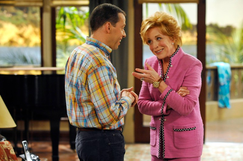 The actress Holland Taylor on the set of the series.