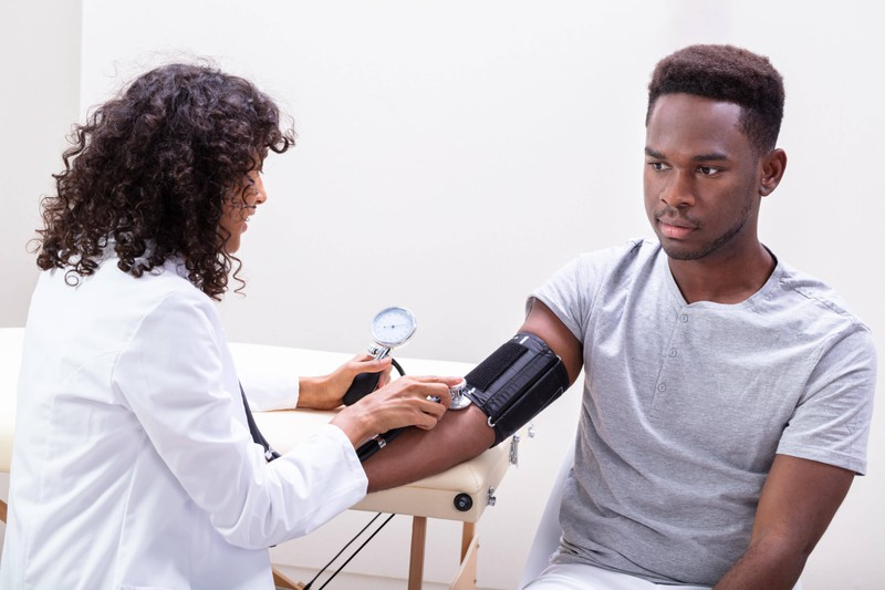 Regularly checking your blood pressure is a good way of checking for signs of a heart attack.